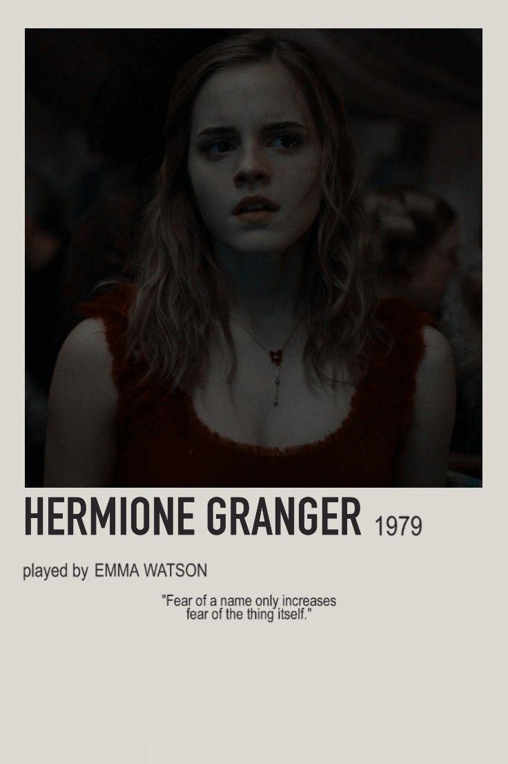 minimalist character polaroid hermione granger poster