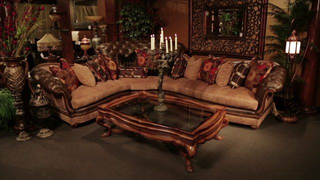 Old World Sectional Sofa Tuscan Mediterranean