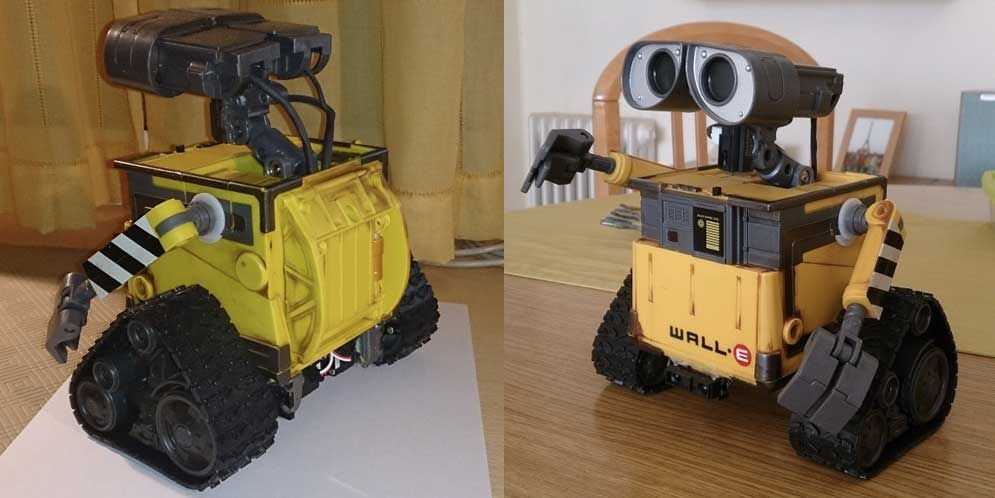 Autonomous wall e robot controlled through arduino