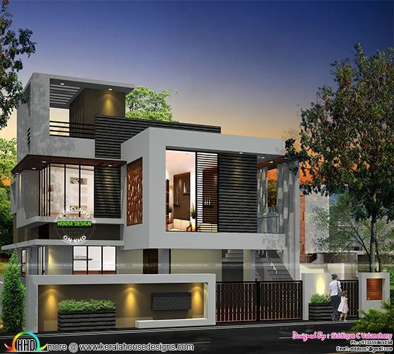 Modern Home Elevation Designs: Single Floor Turning To A Double Floor Home