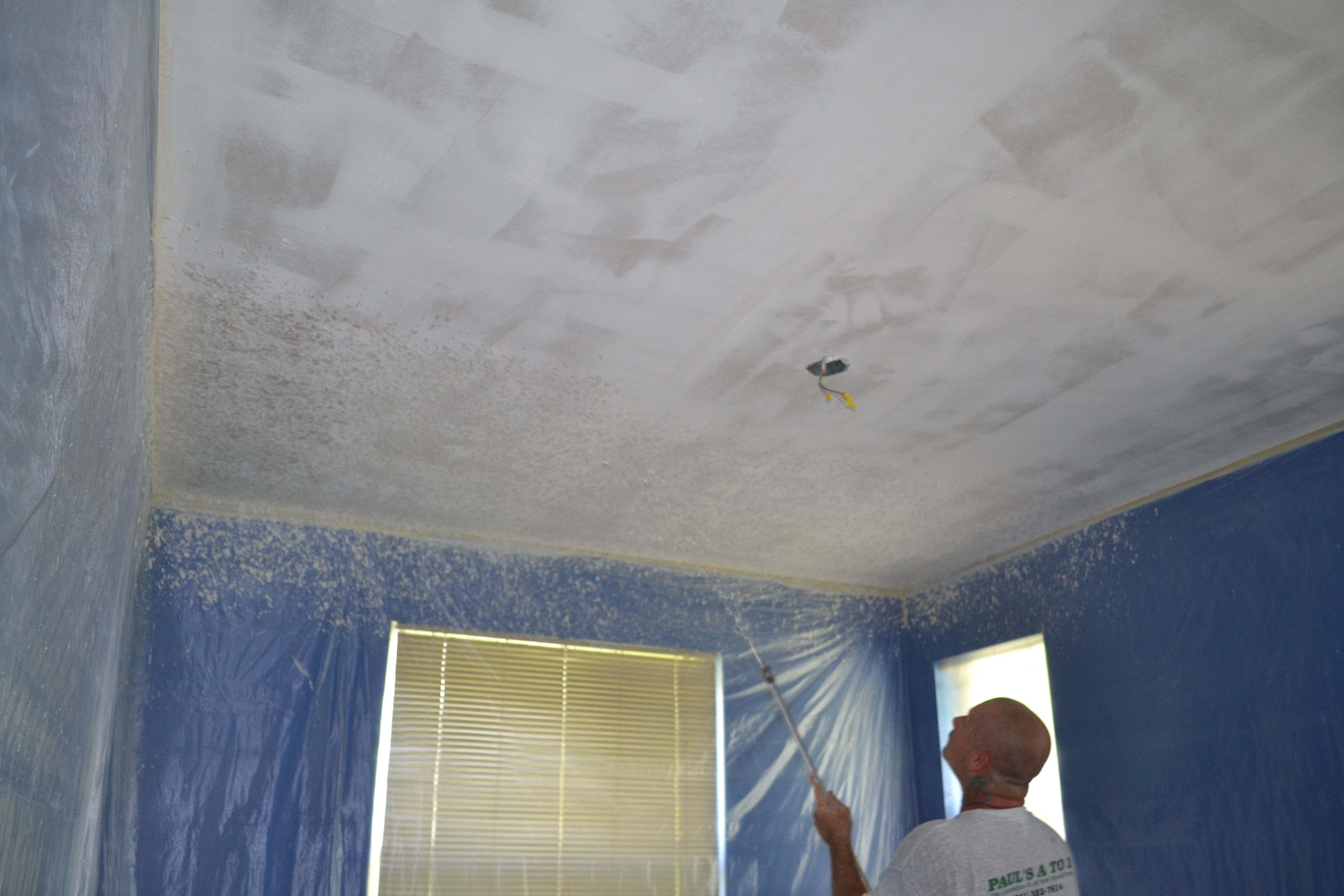 Knockdown Textured Ceiling Knockdown Spray Texture After Popcorn Removal Popcorn Ceiling