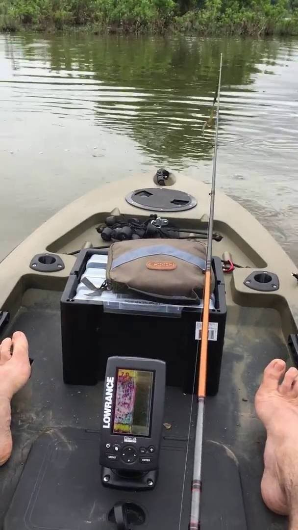 FS128T motor mod w/foot steering - trial run | Skinny water