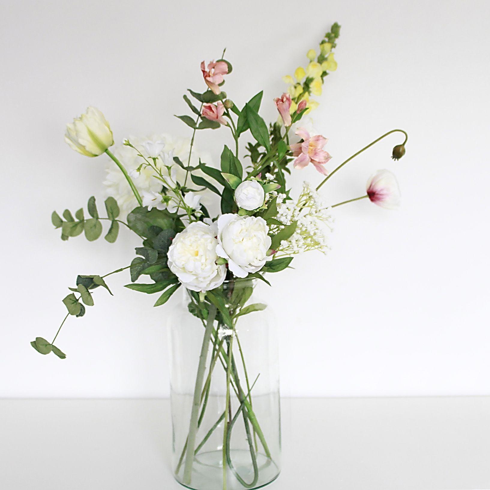 Kunstbloemen veldboeket | Kunstbloemen en naaldhakken | Pinterest