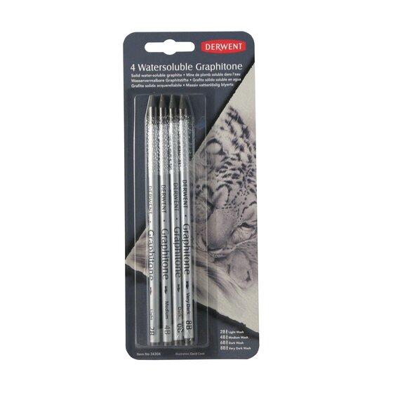 Medium or Dark Wash Light Derwent Artist/'s Water-Soluble Sketching Pencils