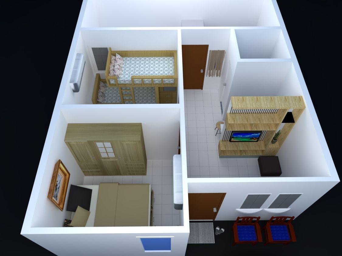 Rumah tipe kt km dengan memanfaatkan bagian belakang sebagai dapur also rh in pinterest
