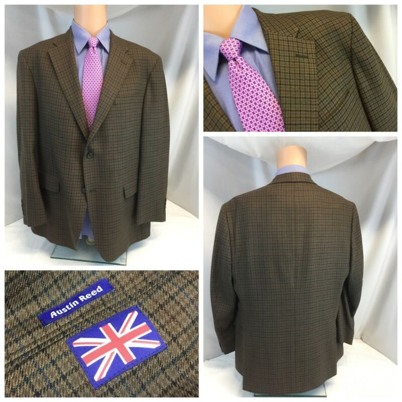 Austin Reed Sport Coat 44r Brown Houndstooth 2b 2v Usa Lnwot Ygi J9 176 Suits Suit Separates Ebay Link In 2020 Sports Blazer Cashmere Blazer Sport Coat