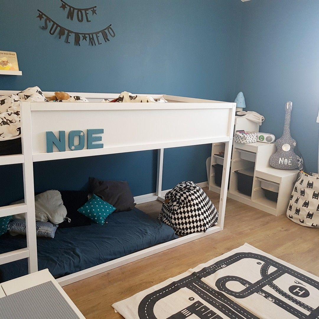 Jungen Schlafzimmer Blue Superheros Schlafzimmer Ikea Kura Bett ...