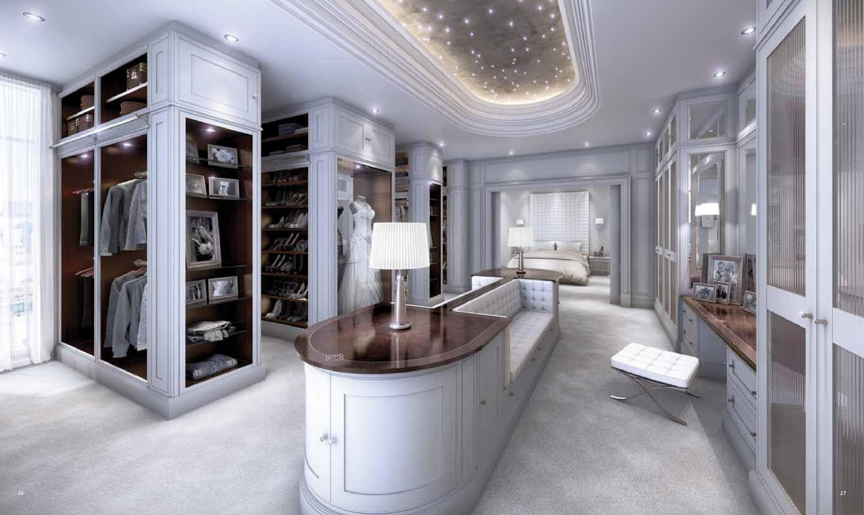Clive christian weybridge ltd alpha deco dressing room for Female walk in closet