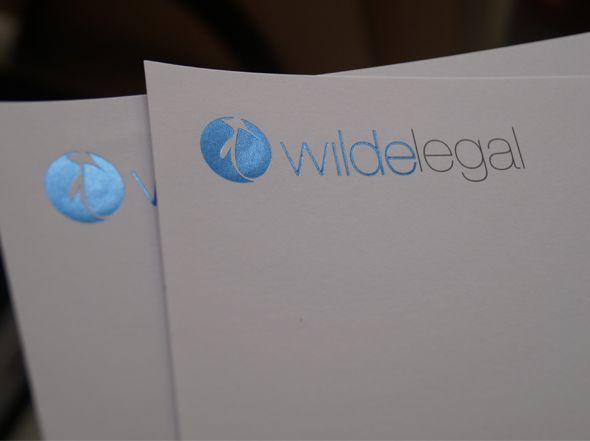 Wilde Legal Letterhead Foil Sample  Art Design