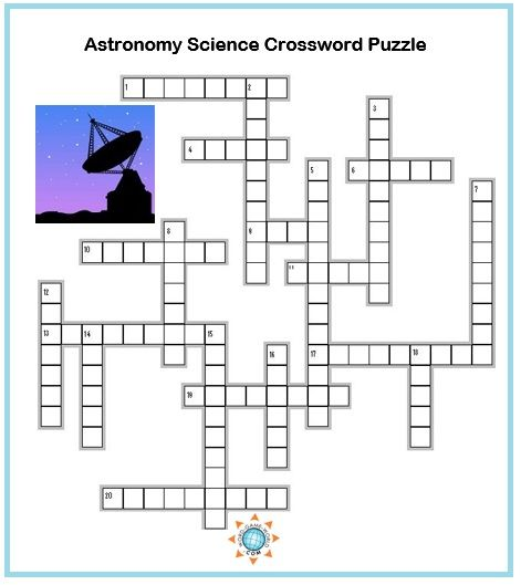 Science Crossword Puzzles Astronomy Terms Educational