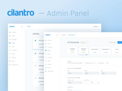 Simple Clean Admin Panel Cilantro Admin Panel Admin Web Design