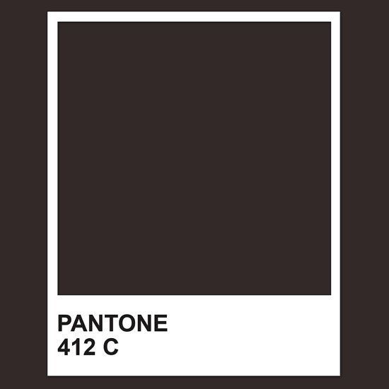 Pantone 412 Darkest Tone Rich Brown That Reads Charcoal Black Can Be Lightened But Not Skew To Chocolate Too Red Pantone Pantone Red Pantone Color