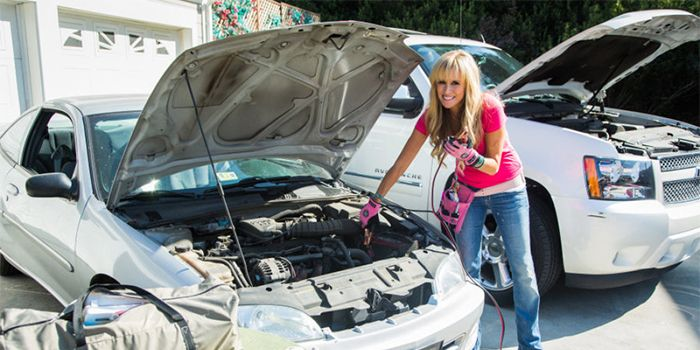 Jump Starting Your Car With Paige Hemmis Home Family Hallmark Channel Step By Step Directions On Attaching The Jump Paige Hemmis Hallmark Homes Car