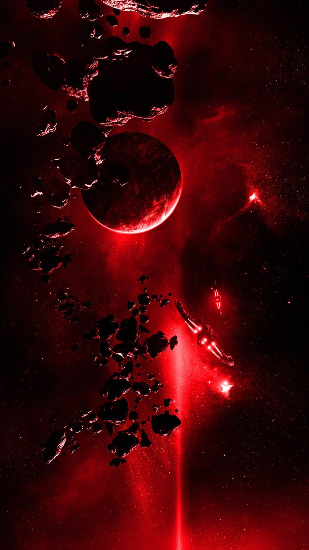Red Light From Space 暗い壁紙 壁紙 赤 美的壁紙