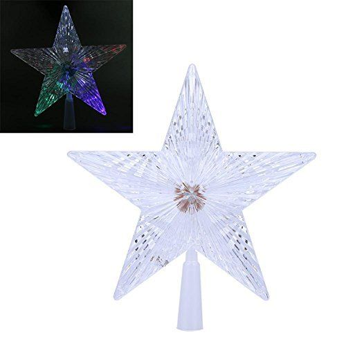 2511fd80991d Whitelotous Creative Christmas Party Decorations LED Luminous Tree Top Star(14cm).  Twinkle Twinkle