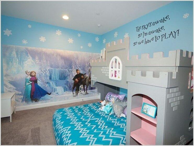 Awesome 20 Lovely Frozen Themed Room Decor Ideas Your Kids Will Love Https Gardenmagz Com 20 Lovely Frozen Bedroom Decor Frozen Bedroom Disney Decor Bedroom