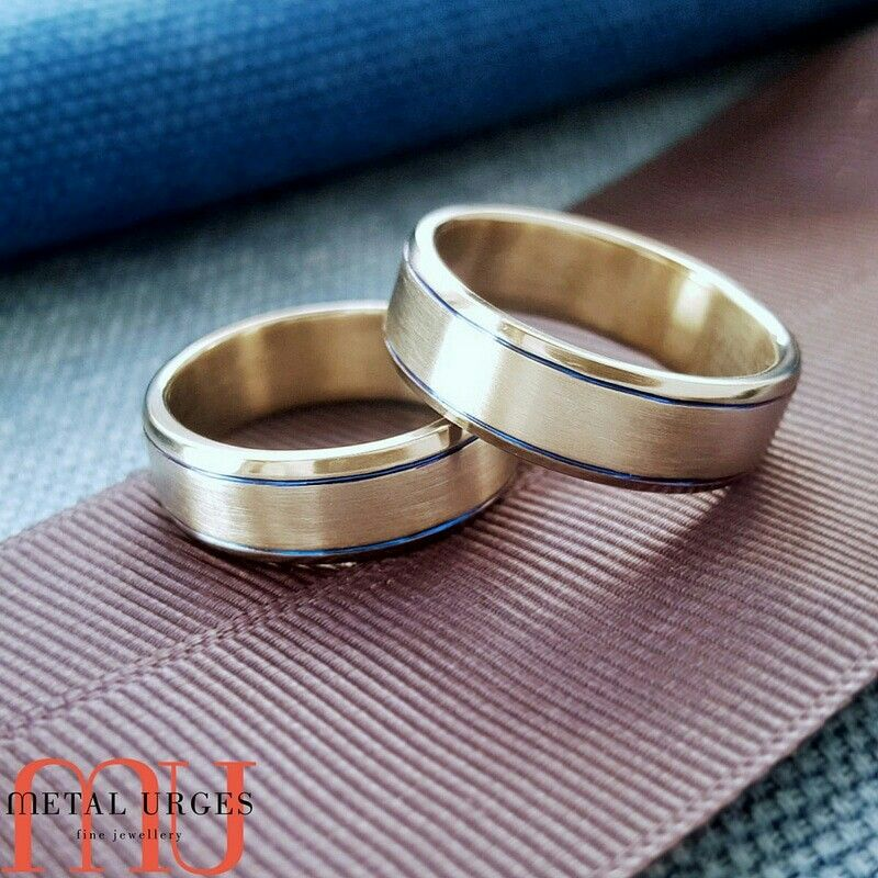 Two titanium men's wedders are better than one! Contact us