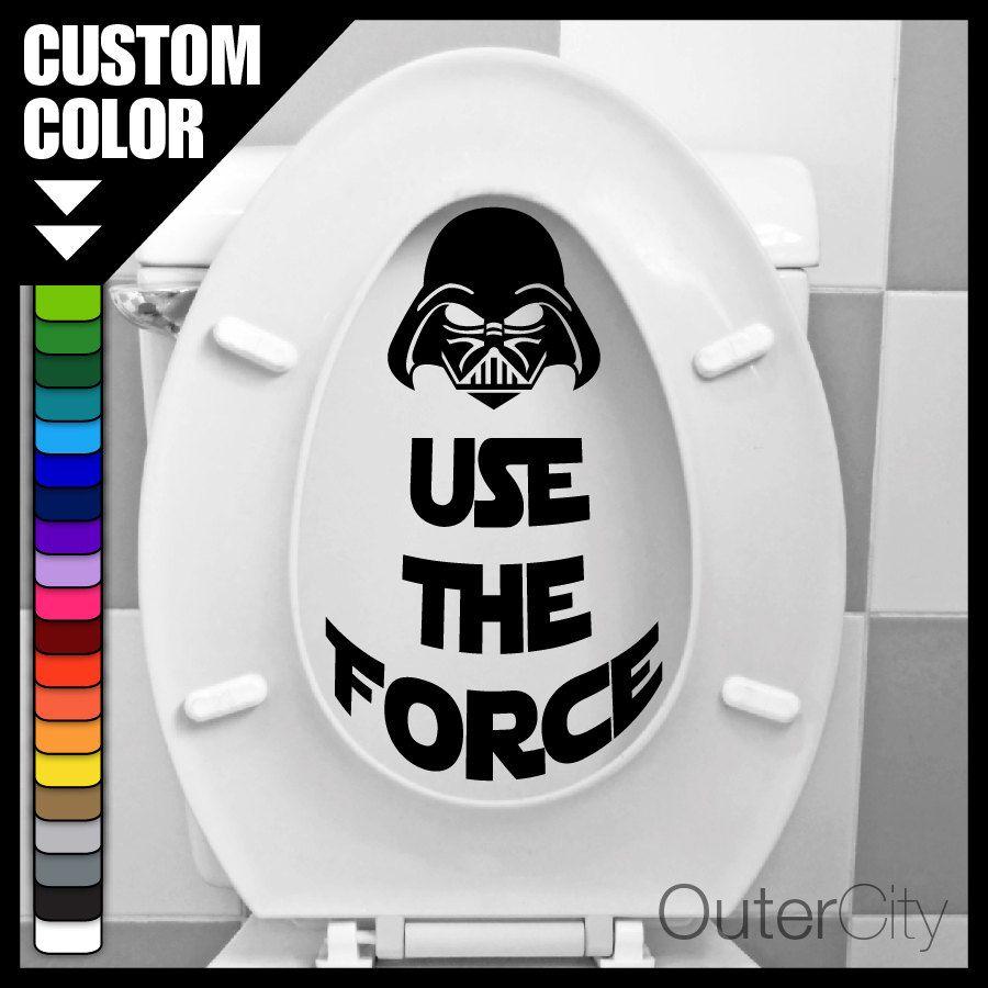 Badezimmer dekor zitate use the force  star wars toilet seat vinyl sticker  free shipping
