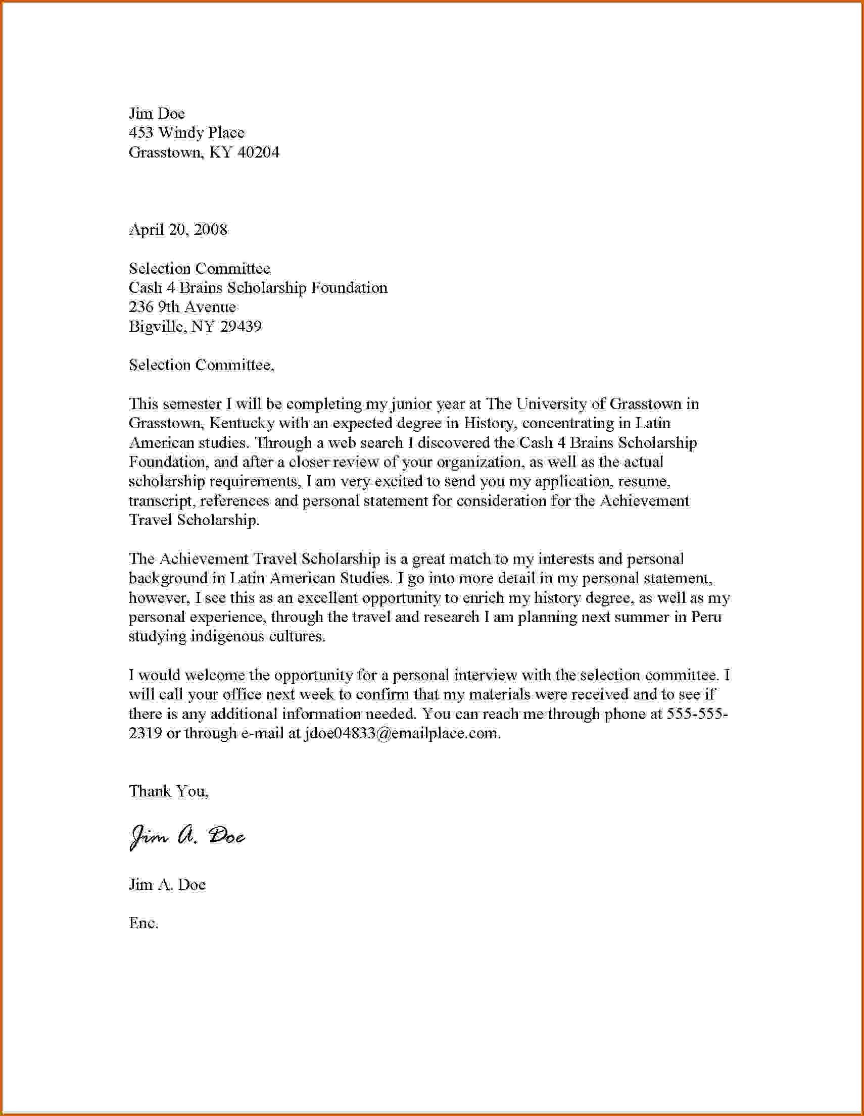 College application lettermple scholarship cover letter collegeg