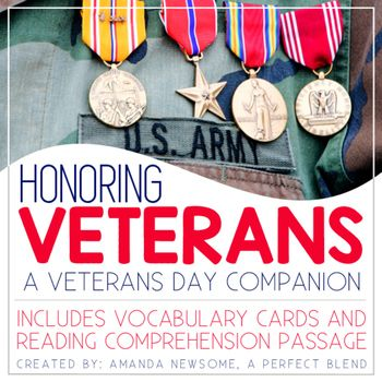Honoring Veterans- Veterans Day Activity Unit