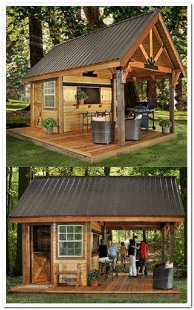 Incredible Backyard Storage Shed Design And Decor Ideas Backyardstorage Backyardstorageshed Backya Backyard Storage Sheds Backyard Storage Backyard Pavilion