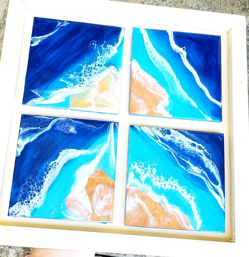 Make Resin Wave Art in Oahu! Safety is paramount so kids