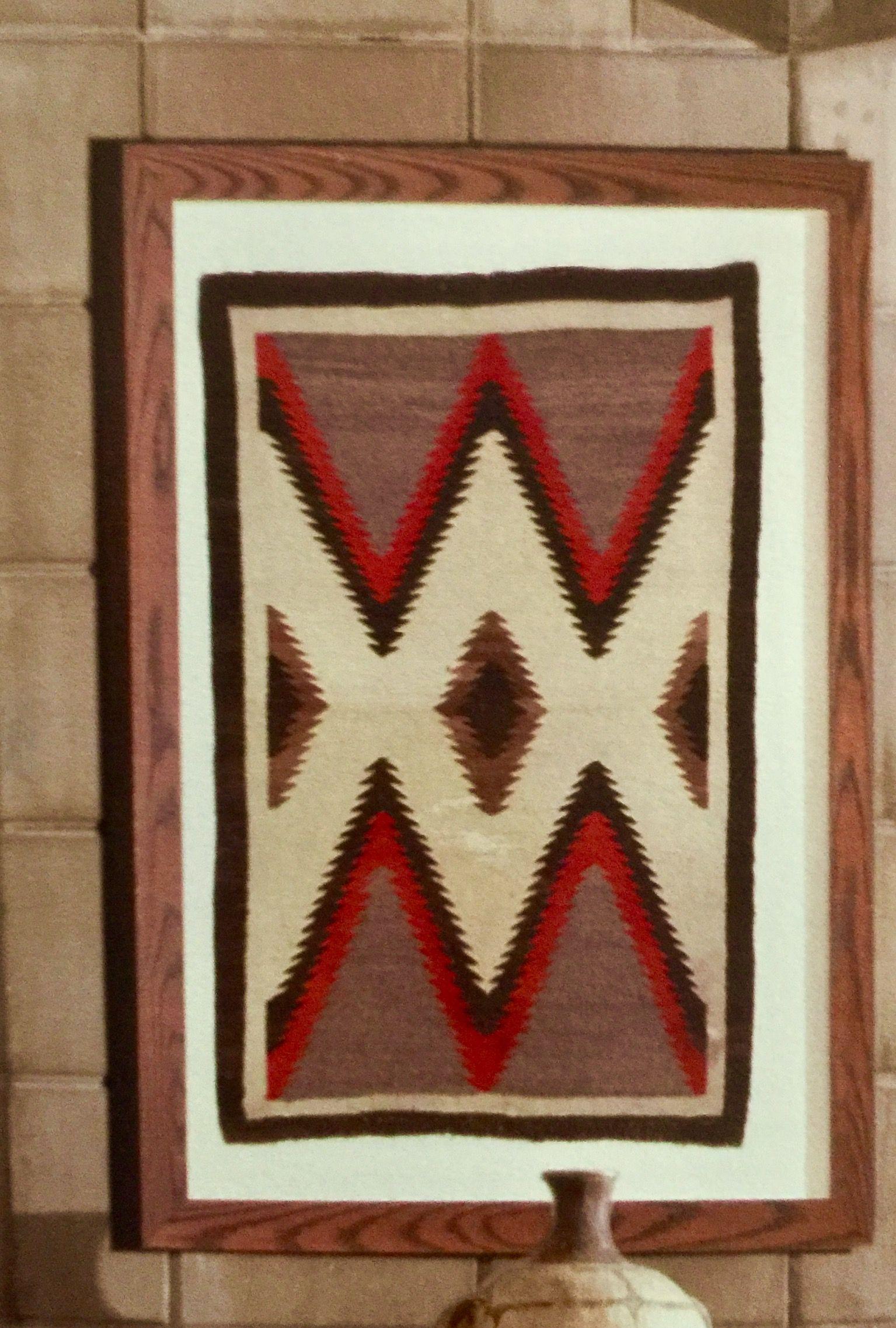 Framed Navajo Textile At The Arizona Biltmore Resort Weaving Rugs Indian Artifacts