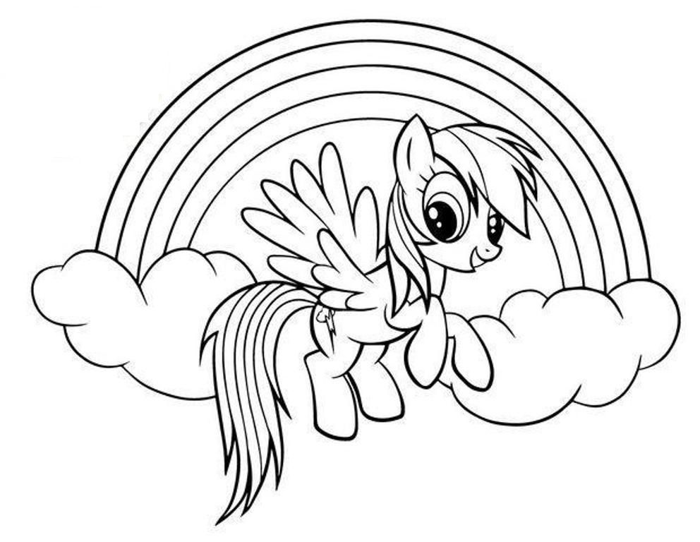 My Little Pony Coloring Pages Rainbow Dash Fluttershy