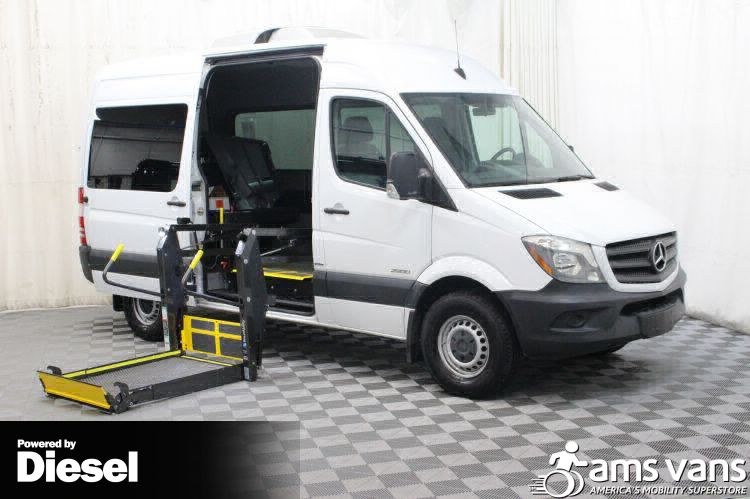 Used 2016 Mercedes Benz Sprinter 2500 144 Wb Wheelchair Van In