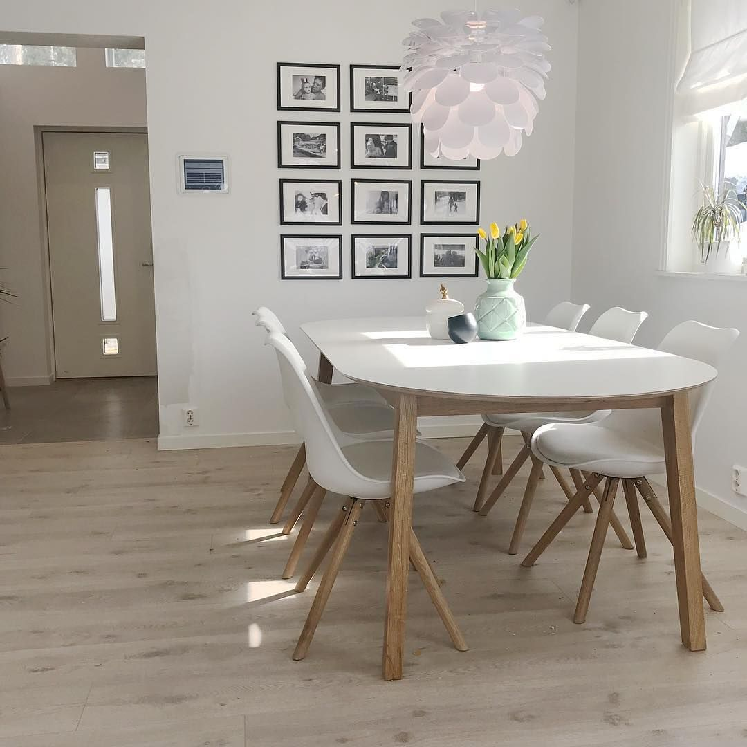 32 More Stunning Scandinavian Dining Rooms: Nordlux Motion 50 Ceiling Pendant Light - White