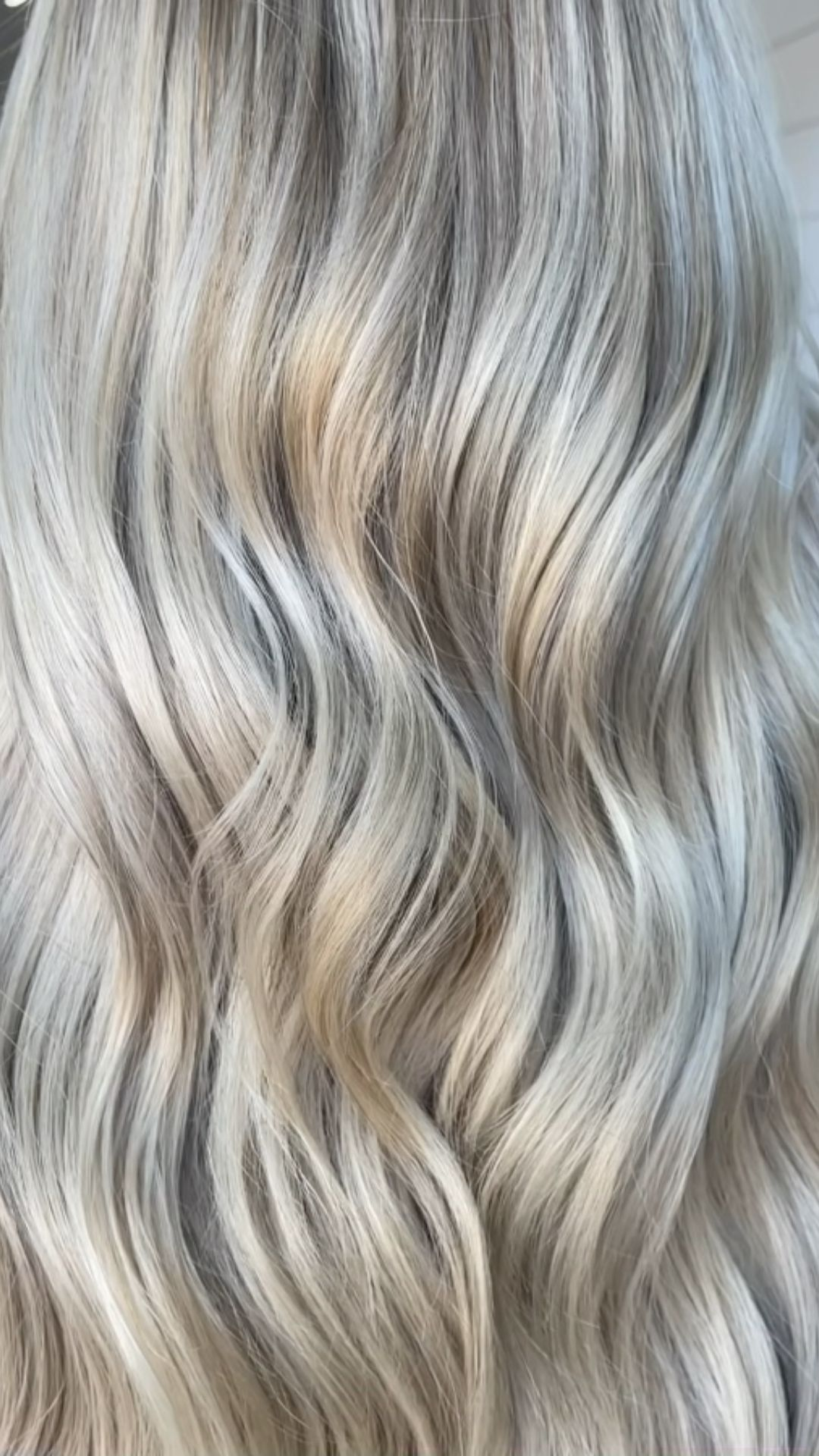 Balayage highlights with hair extensions