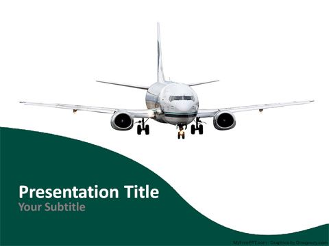 airways powerpoint template | templates | pinterest | aviation, Modern powerpoint