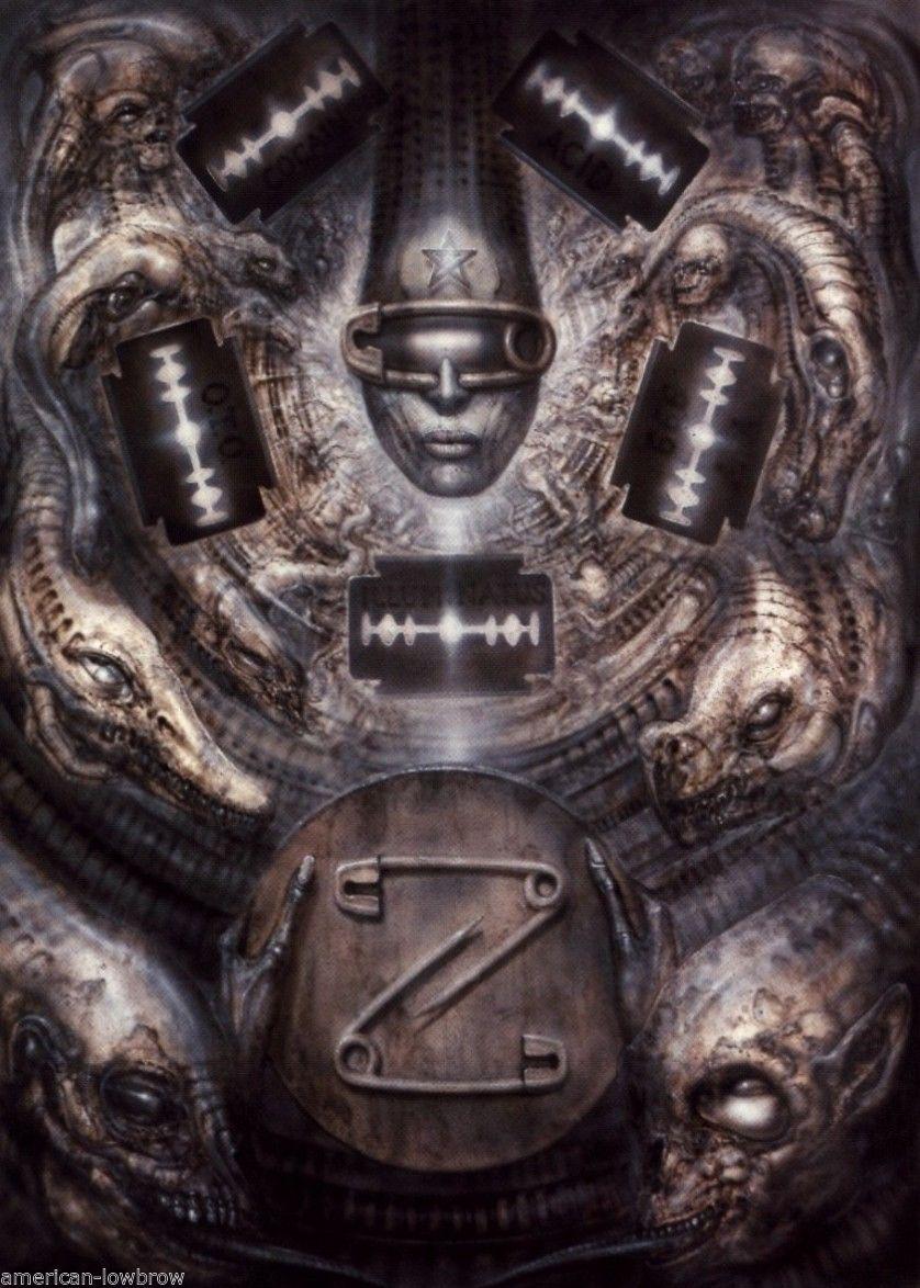 Hr Giger Art Poster Print Illuminatus Ii Alien Baphomet