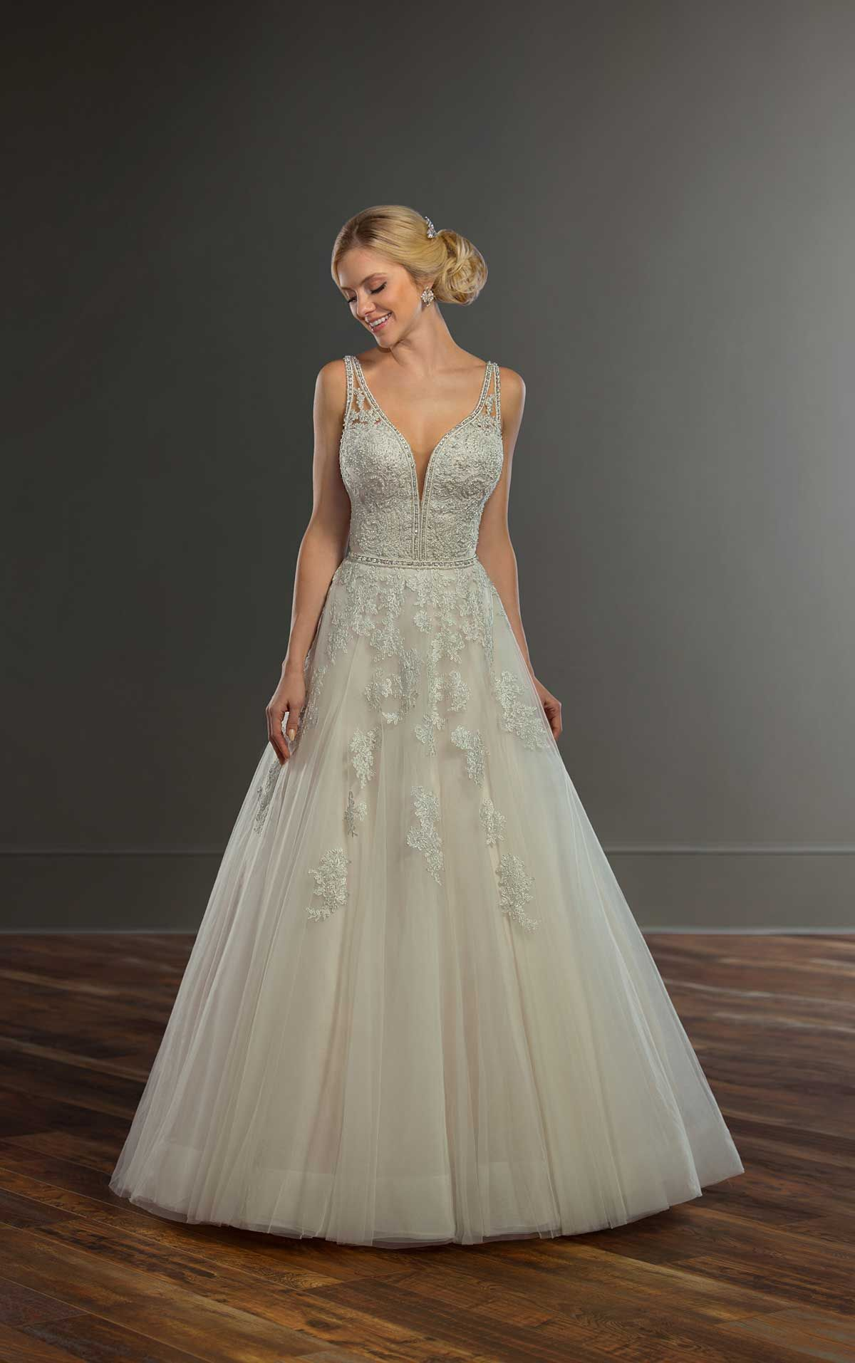 Elegant Beaded Ballgown Wedding Dress | Essense of Australia ...
