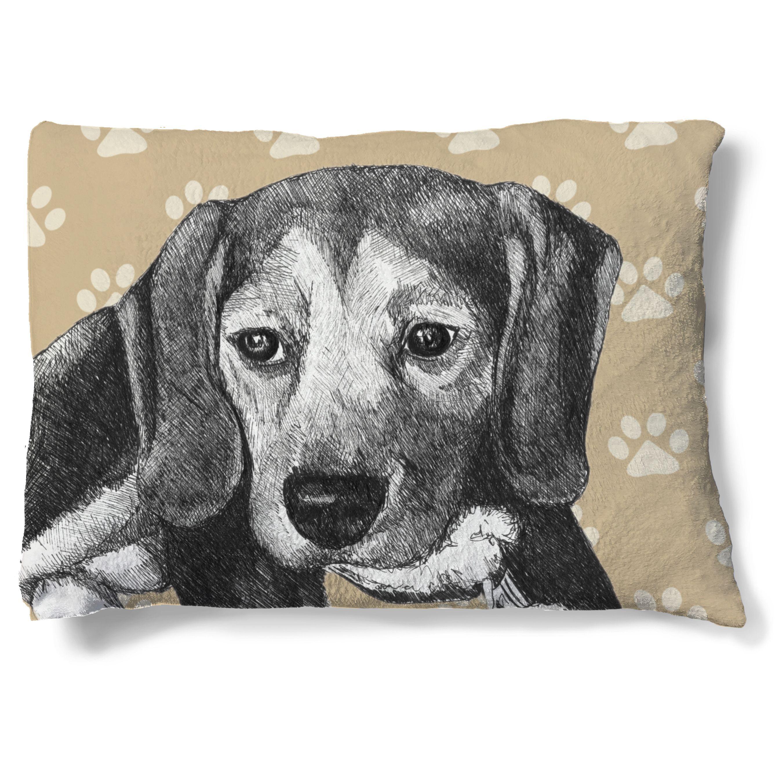 Laural Home Beagle Fleece Dog Bed Fleece dog bed, Dog