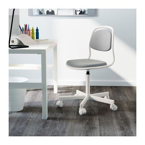 ÖRFJÄLL Childu0027s Desk Chair, White, Vissle Light Gray