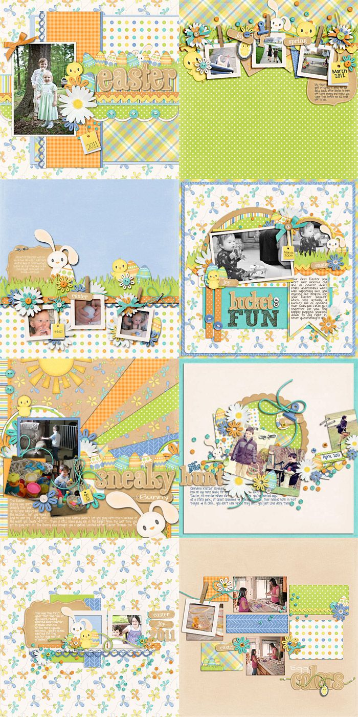 Scrapbook ideas easter - Easter Scrapbook Layout