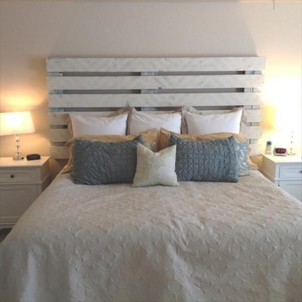 10 DIY Pallet Headboard Designs | DIY and Crafts | Apartment ideas ...
