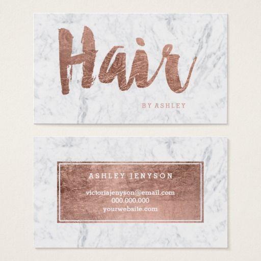 Hair stylist modern rose gold typography marble business card hair stylist modern rose gold typography marble business card colourmoves