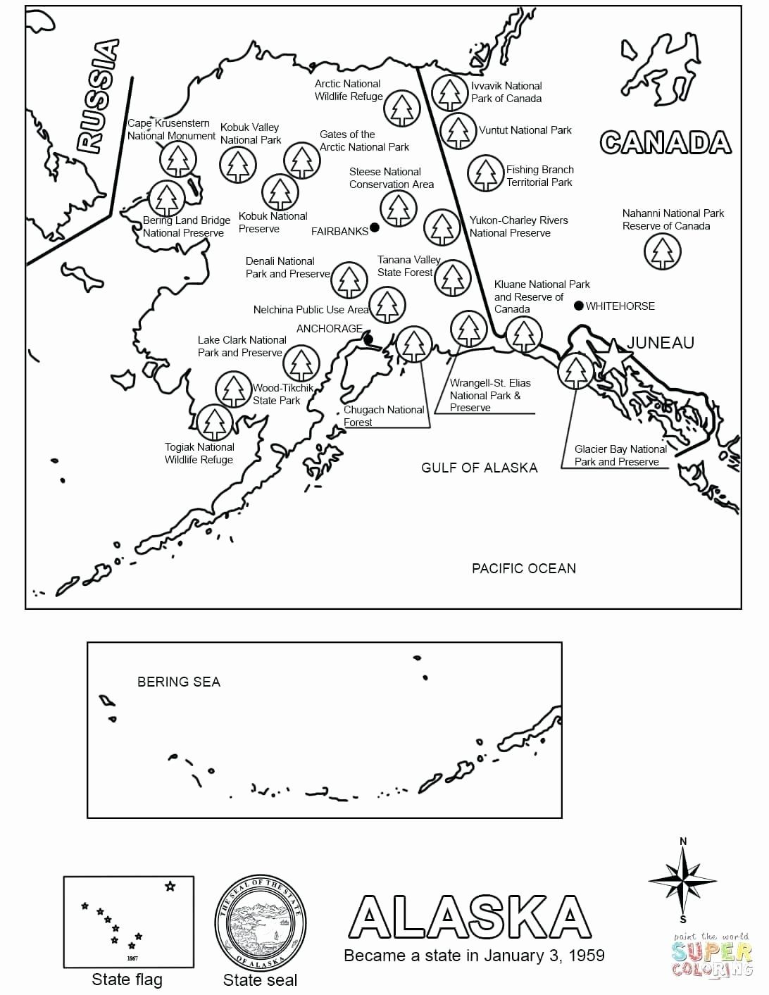 Alaska State Bird Coloring Page Awesome Alaska State
