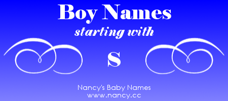 Boy Names That Start With The Letter S Each Name Links To A