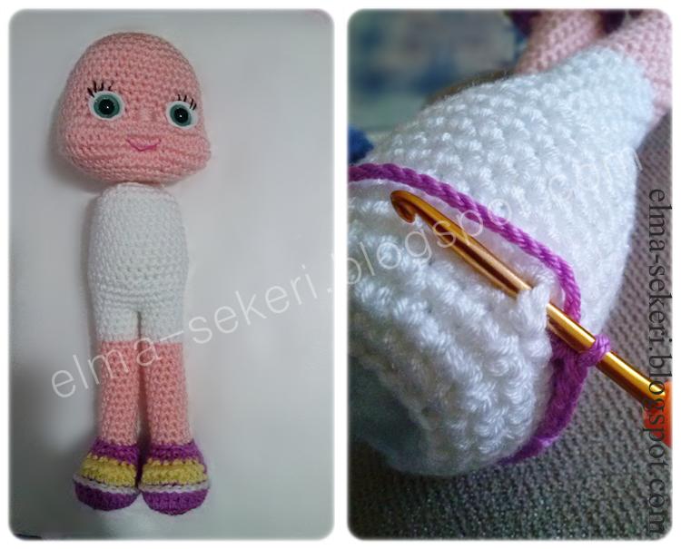 Amigurumi Russian Doll Pattern : Elma Şekeri el sanatları atölyesi amigurumi masha tarifi