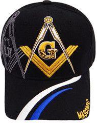 2d7f020cb83 Mason Hat Black Baseball Cap with Masonic Logo Freemasons Shriners Prince  Hall Lodge Headwear
