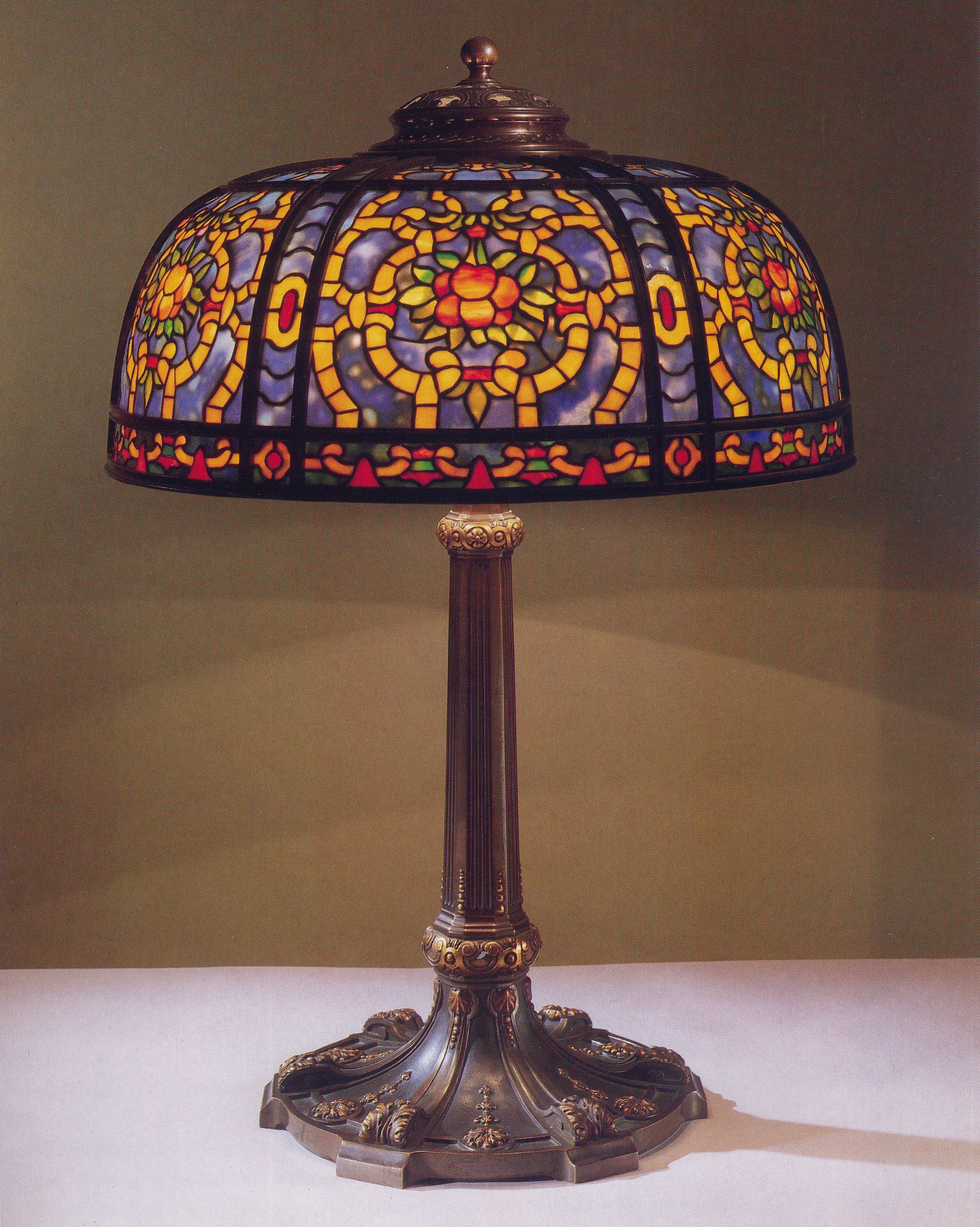 Lamp Geometric Table Lamp 1a Image 27 Genuine Tiffany Lamps
