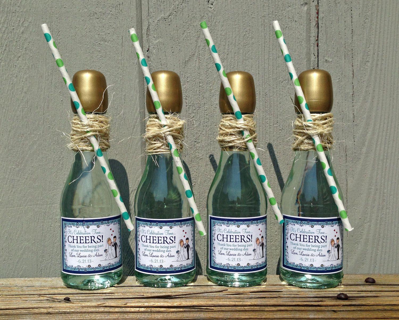 Personalized Sticker Label Mini Wine Champagne