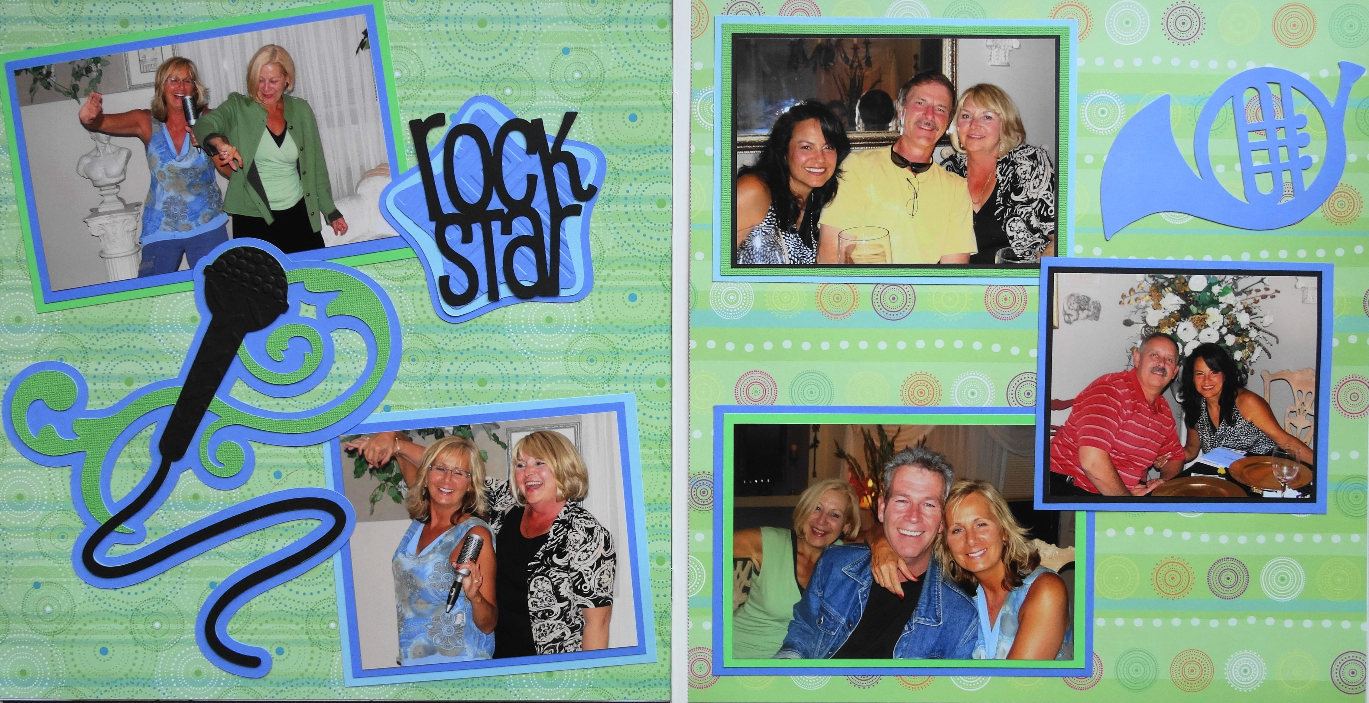 Family scrapbook ideas on pinterest - Scrapbook Page Karaoke Rock Stars 2 Page Music Layout With A Microphone And French