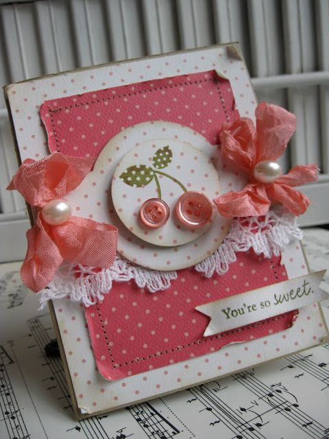 Button Buddies 122737 Stampin Up Spring card cherries