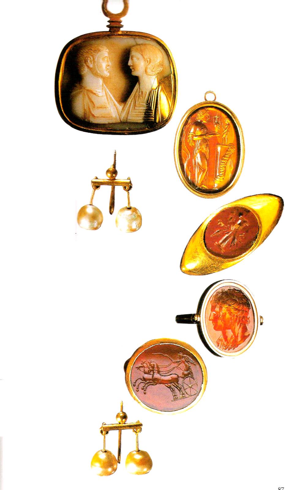 Artículos de belleza que datan del siglo I d.C. Antigua