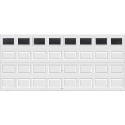 Value Series 16 Ft X 7 Ft Non Insulated White Garage Door With