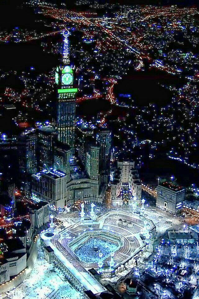 Beautiful Mecca At Night Holy Place Pinterest Masjid Al Haram